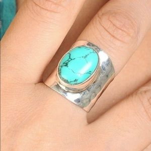 NWT S925 Silver (💙)Blue Natural Turquoise Ring